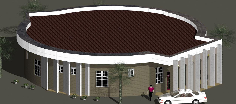 3d Architectural Building Plan Design Of Bungalow House 3