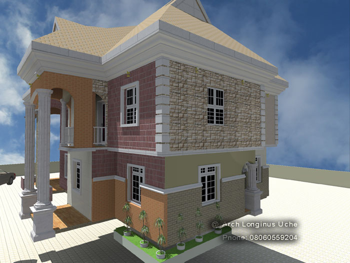 3d Architectural Building Plan Design Of Bungalow House 3 Bedroom Modern Duplex Hotelbuildingplan In Lagos Nigeria West Africa,Decorating Homes For Christmas