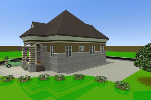 3d Architectural Building Plan Design Of Bungalow House 3 Bedroom Modern Duplex Hotelbuildingplan In Lagos Nigeria West Africa