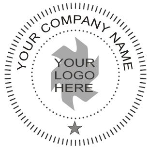 Company Name And Logo On Seal